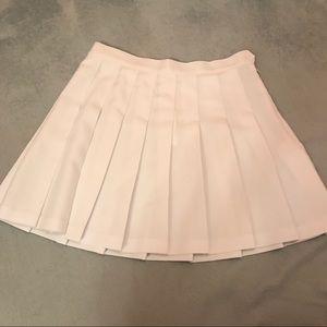 Brand new white pleated mini skirt